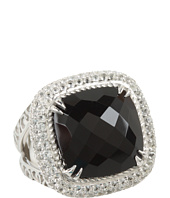 DeLatori - Square Black Onyx and Crystal Ring