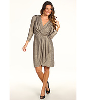 Maggy London - Metallic Knit Wrap Dress