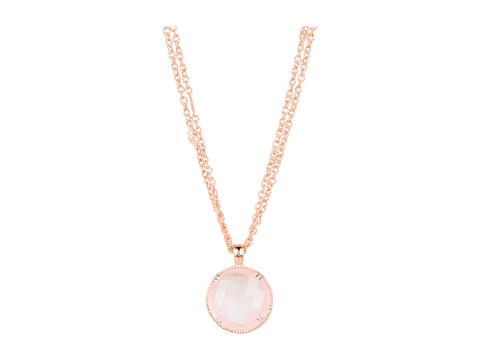 DeLatori - Rose Quartz Necklace - 80-06-P502-19 (Rose Quartz/Blush Gold Plating) - Jewelry