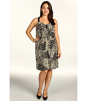 DKNY Jeans - Plus Size Patch Leopard Printed Dress