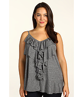 DKNY Jeans - Plus Size Draped Tier Ruffle Cami