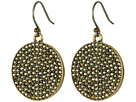 Lucky Brand Gold Pave Disk Earring
