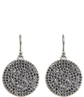 Lucky Brand - Silver Pave Disk Earring
