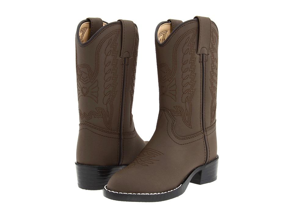 Durango Kids BT804 (Toddler/Little Kid) (Brown Embossed) Cowboy Boots