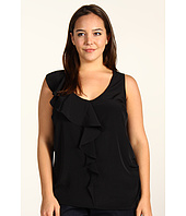 DKNY Jeans - Plus Size Sleeveless Ruffle Top