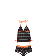 Hurley Kids - One & Only Plaid Tankini & Boyshort (Big Kids)