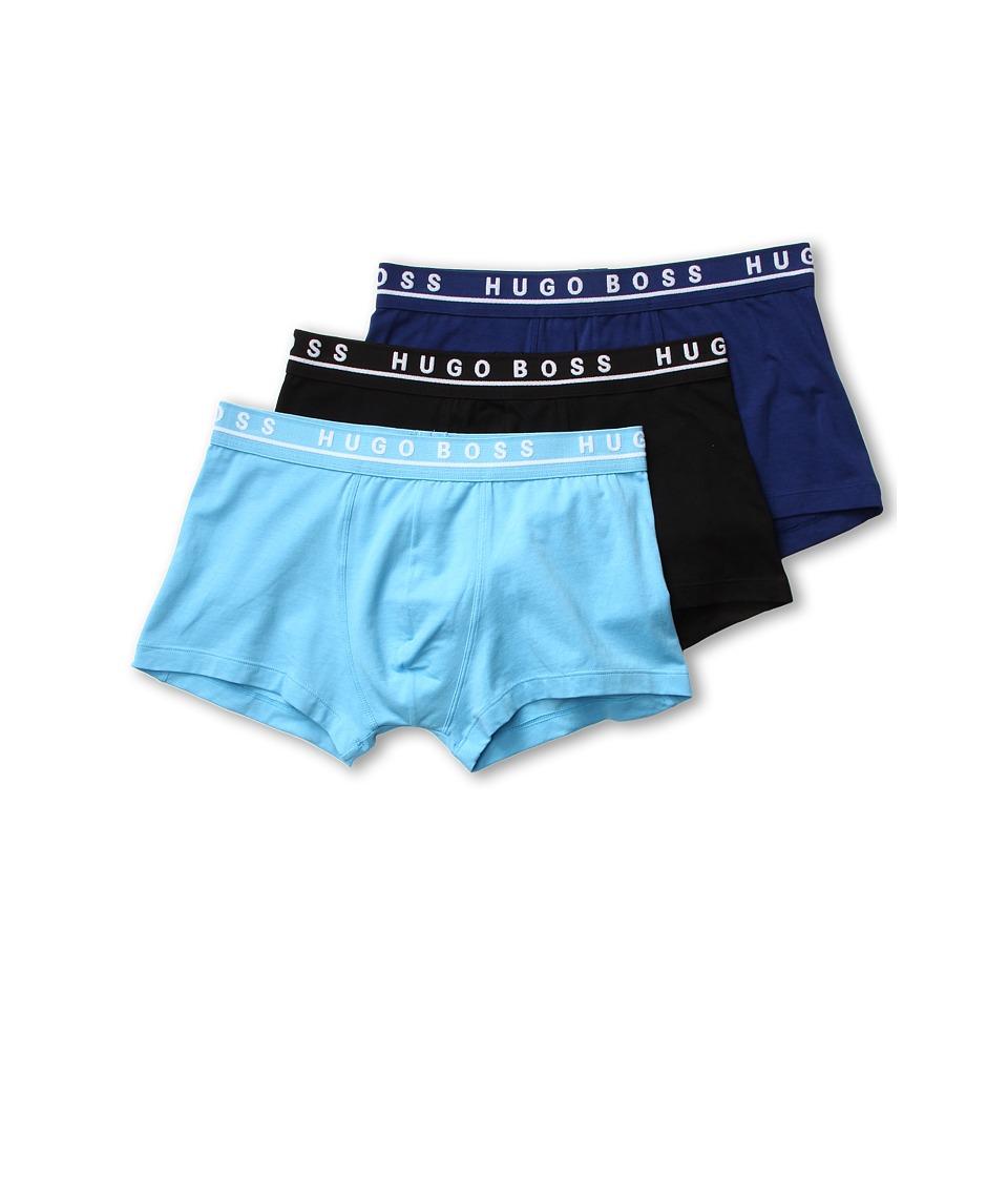 BOSS Hugo Boss Cotton Stretch Boxer 3 Pack 50236743 Light Blue/Blue/Black Mens Underwear