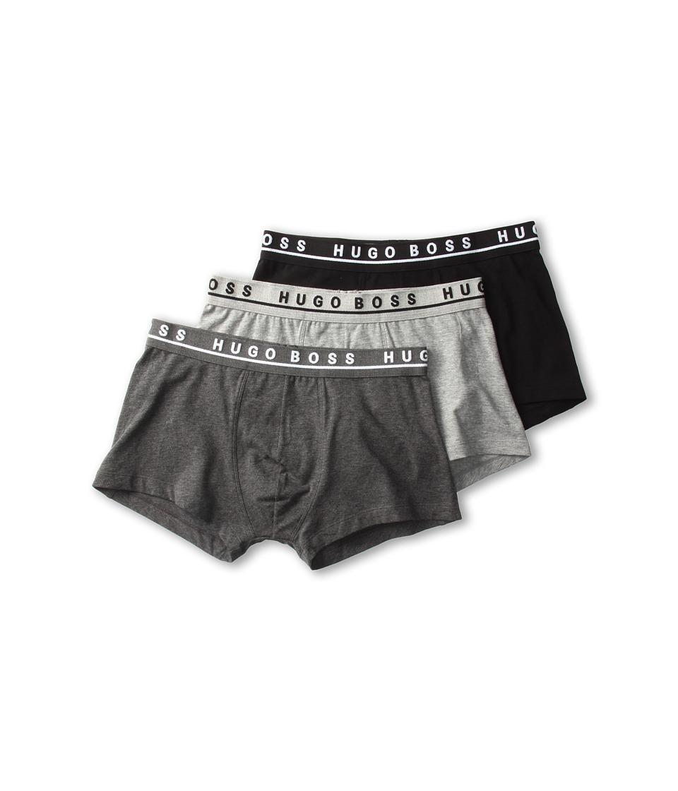 BOSS Hugo Boss Cotton Stretch Boxer 3 Pack 50236743 Grey/Charcoal/Black Mens Underwear