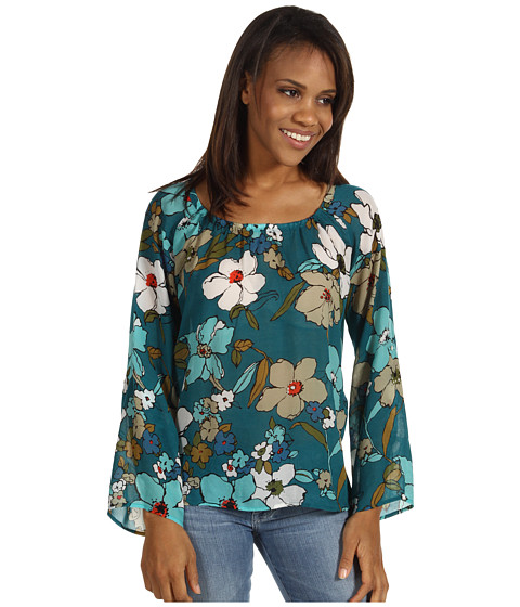 Tommy Bahama - Painted Gardenias Top (Largo Teal) - Apparel