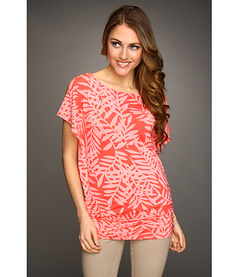 Tommy Bahama - Lace Fern Top (Bright Coral) - Apparel