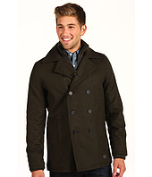 Ben Sherman - Ribbed Funnel Neck Melton Peacoat