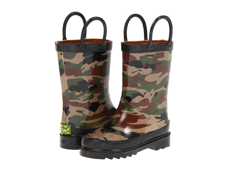 Western Chief Kids Camo Rainboot Toddler/Little Kid Camo Boys Shoes
