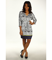 Kenneth Cole New York - Printed V-Neck Dress
