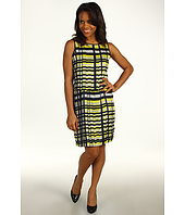 Kenneth Cole New York - Abstract Grid Printed Double Layer Dress