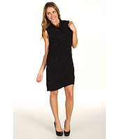 Kenneth Cole New York - Seamed Open Collar Dress w/ Rivets