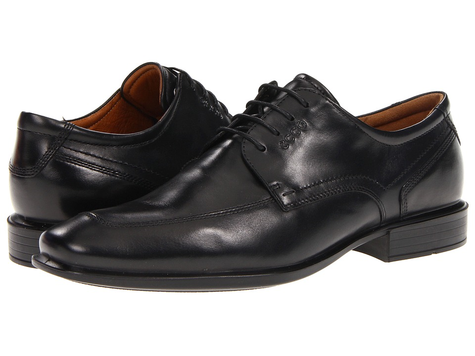 ECCO - Cairo Apron Toe Tie (Black Oxford Leather) Mens Lace Up Moc Toe Shoes