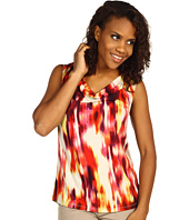 Kenneth Cole New York - Bright Sunset Print Draped Neck Top