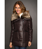 Vince Camuto - Faux Fur Trim Asymmetrical Cire Jacket