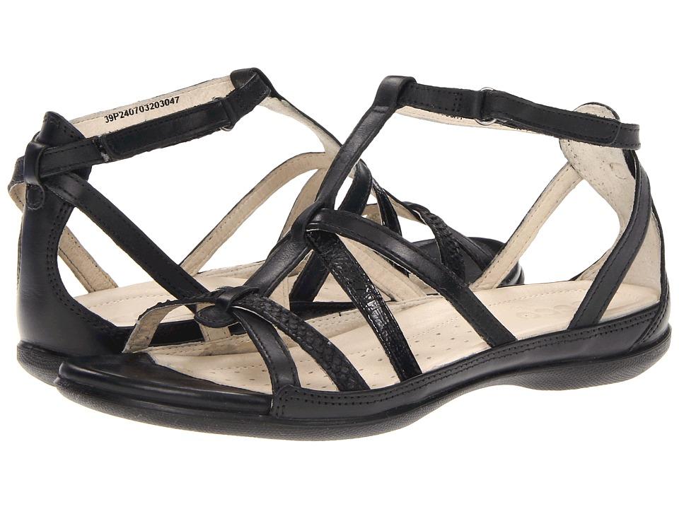 ECCO - Flash Low Gladiator (Black/Black) Women's Sandals