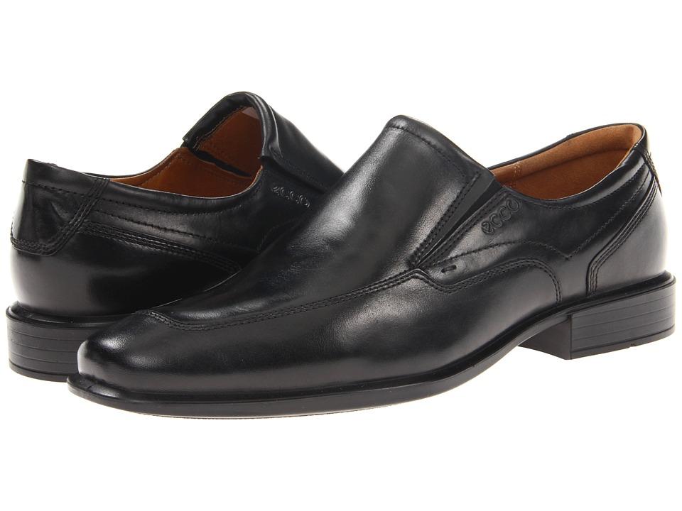 ECCO Cairo Apron Toe Slip On (Black Oxford Leather) Men