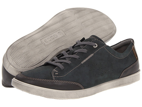 ECCO - Collin Casual Tie (Licorice/Moonless) - Footwear