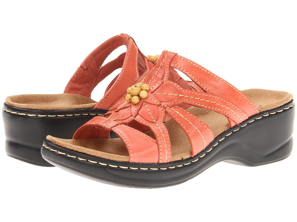 Clarks Lexi Myrtle (Coral) Women's Shoes, wide width womens sandals, wide fitting sandal, comfort, footwear, shoes, WW