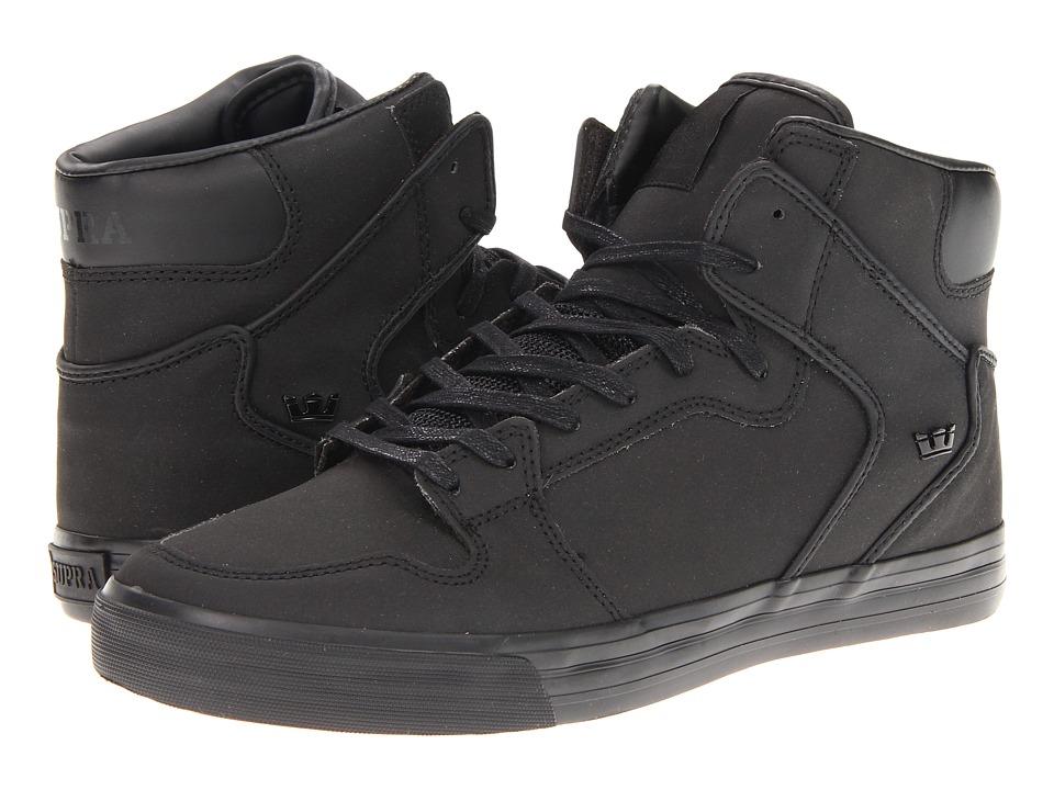 Supra - Vaider (Black Satin TUF) Skate Shoes