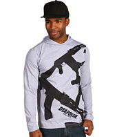 DTA secured by Rogue Status - Strapped Long Sleeve Hood Tee