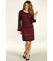 Laundry by Shelli Segal - Wavy Stitch Sweater Dress
