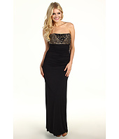 Laundry by Shelli Segal - Strapless Side Shirred Gown With Beaded Bodice