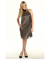 Laundry by Shelli Segal - Metal Pleat Dress With Bow Accent