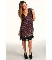 Kenneth Cole New York - Feather Print Cap Sleeve Dress