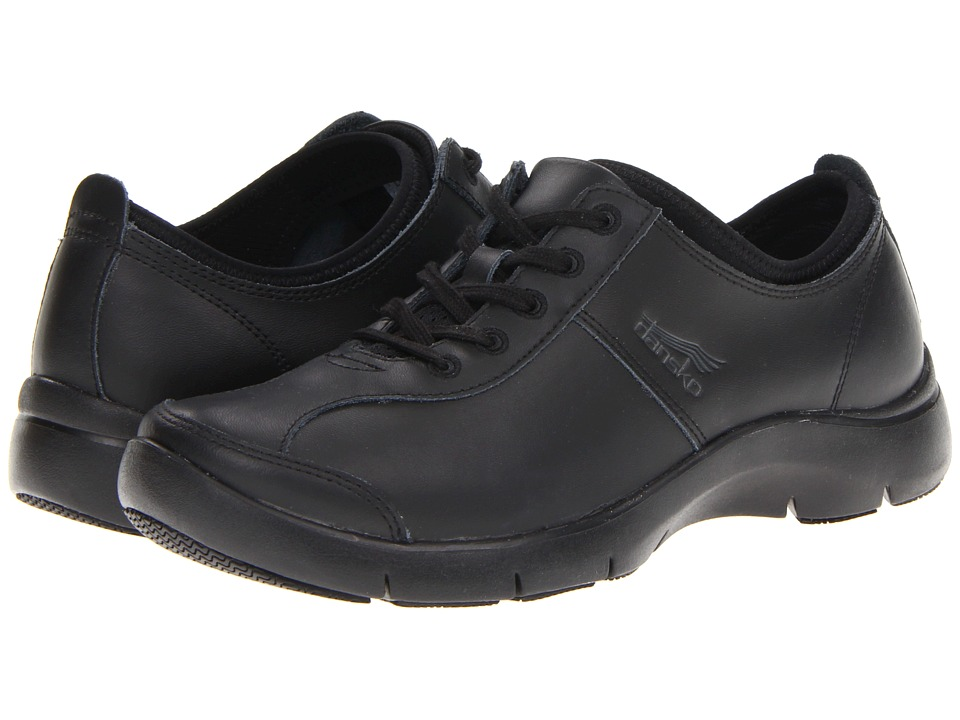 Dansko Elise Black/Black Leather Womens Shoes