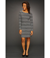 Three Dots - L/S Open Crewneck Tunic Dress