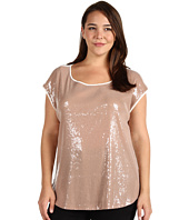 Calvin Klein - Plus Size Scoop Sequin Top