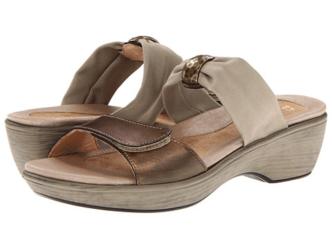 Naot Footwear Pinotage - Brass Leather/Taupe Stretch