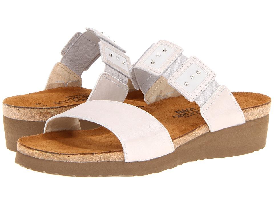 Naot Footwear Emma Quartz Leather/Soft Gray Leather/Quartz Leather Womens Sandals