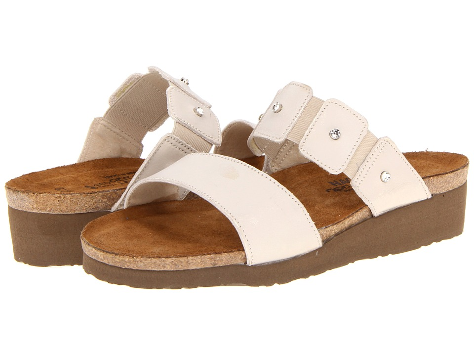 Naot Footwear Ashley Dusty Silver Leather Womens Sandals