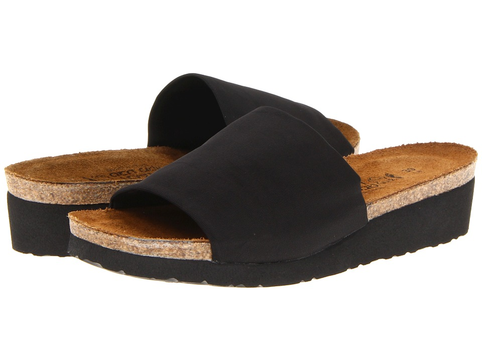 Naot - Alana (Black Stretch) Women's Sandals