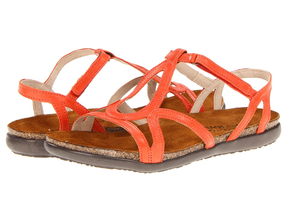 Naot Footwear Dorith Orange Leather Womens Sandals