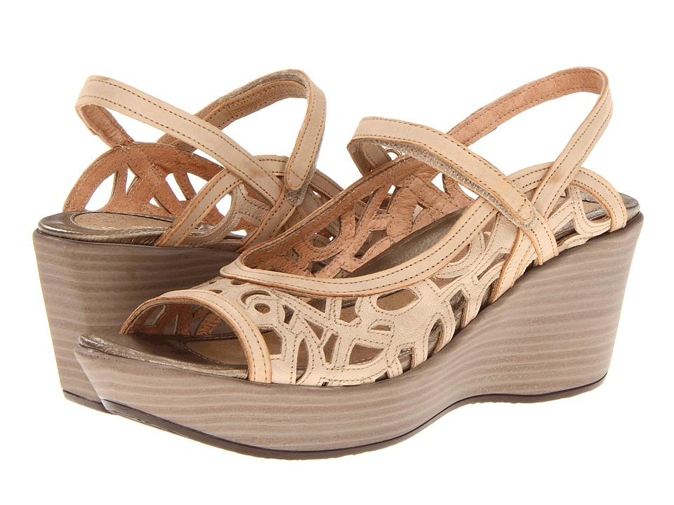 Naot Footwear Deluxe Champagne Leather/Biscuit Leather Womens Sandals