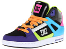 DC Kids - Rebound (Youth) (Black/Turquoise/Green) - Footwear