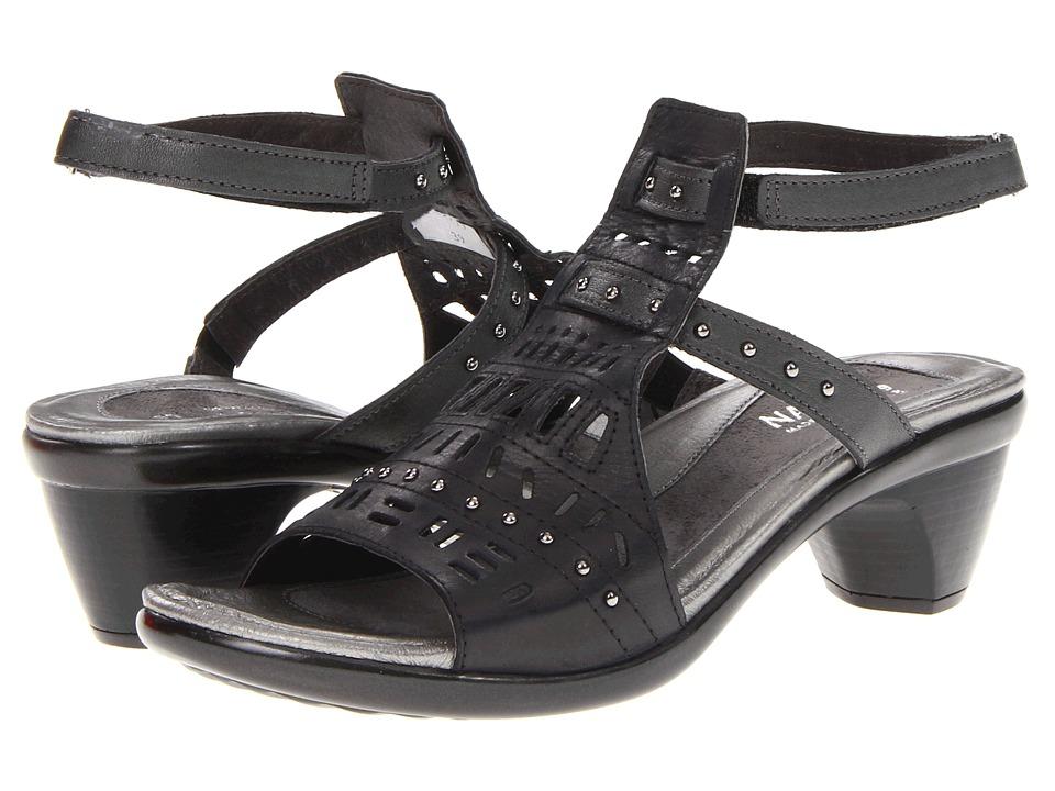 Naot Vogue (Brushed Black Metallic) Sandals