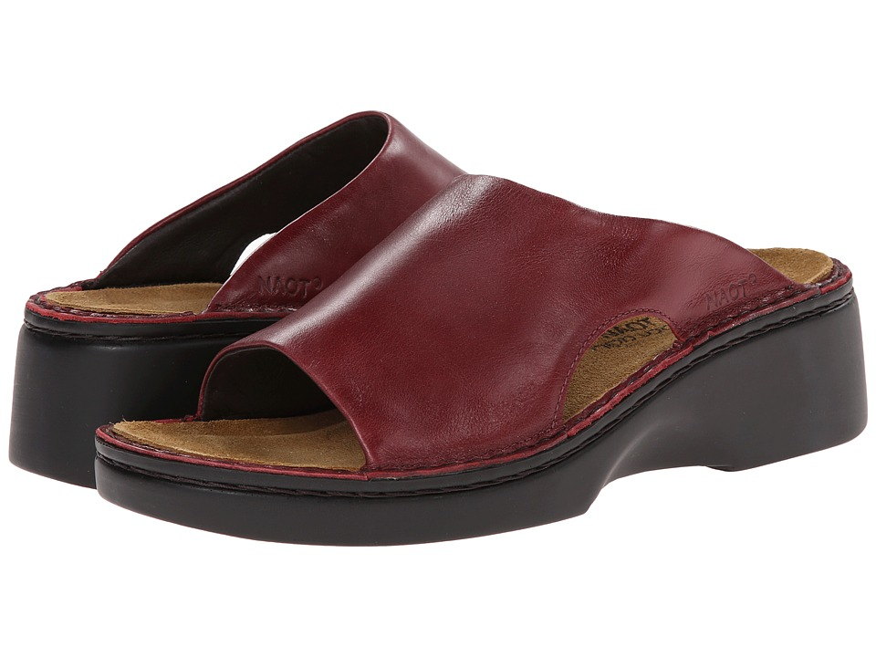 Naot Footwear Rome Rumba Leather Womens Slip on Shoes