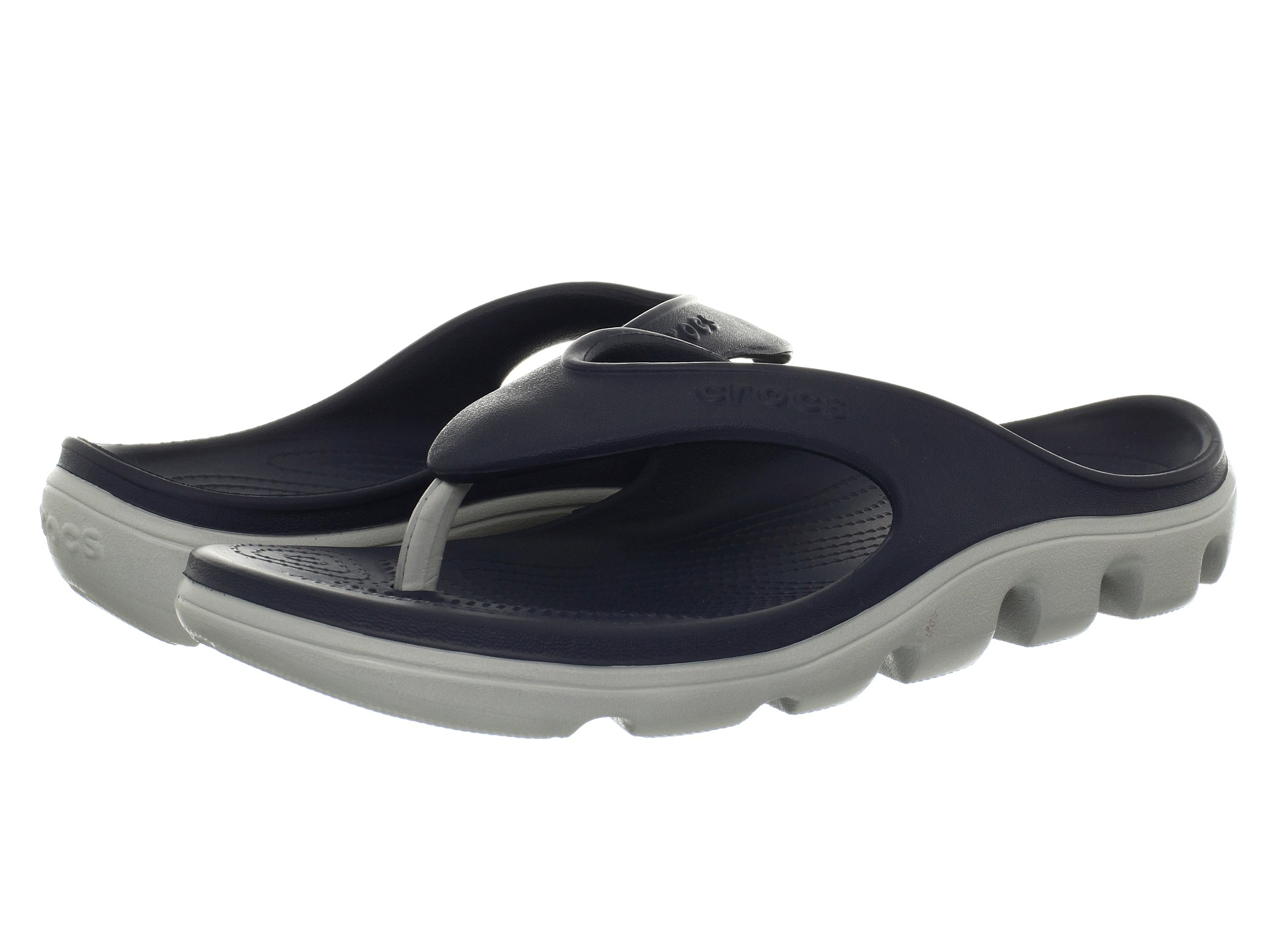 crocs duet sport flip flop shipped free at zappos. Black Bedroom Furniture Sets. Home Design Ideas
