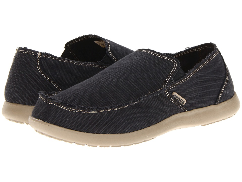 Crocs Santa Cruz (Black/Khaki) Men\u0027s Slip on Shoes