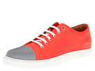 Marc Jacobs - Silver Cap Toe Low Top (Orange) - Footwear