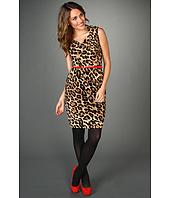 Ellen Tracy - Cap Sleeve Animal Print Dress