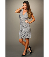 Ellen Tracy - Ruched Guilded Jersey Dress