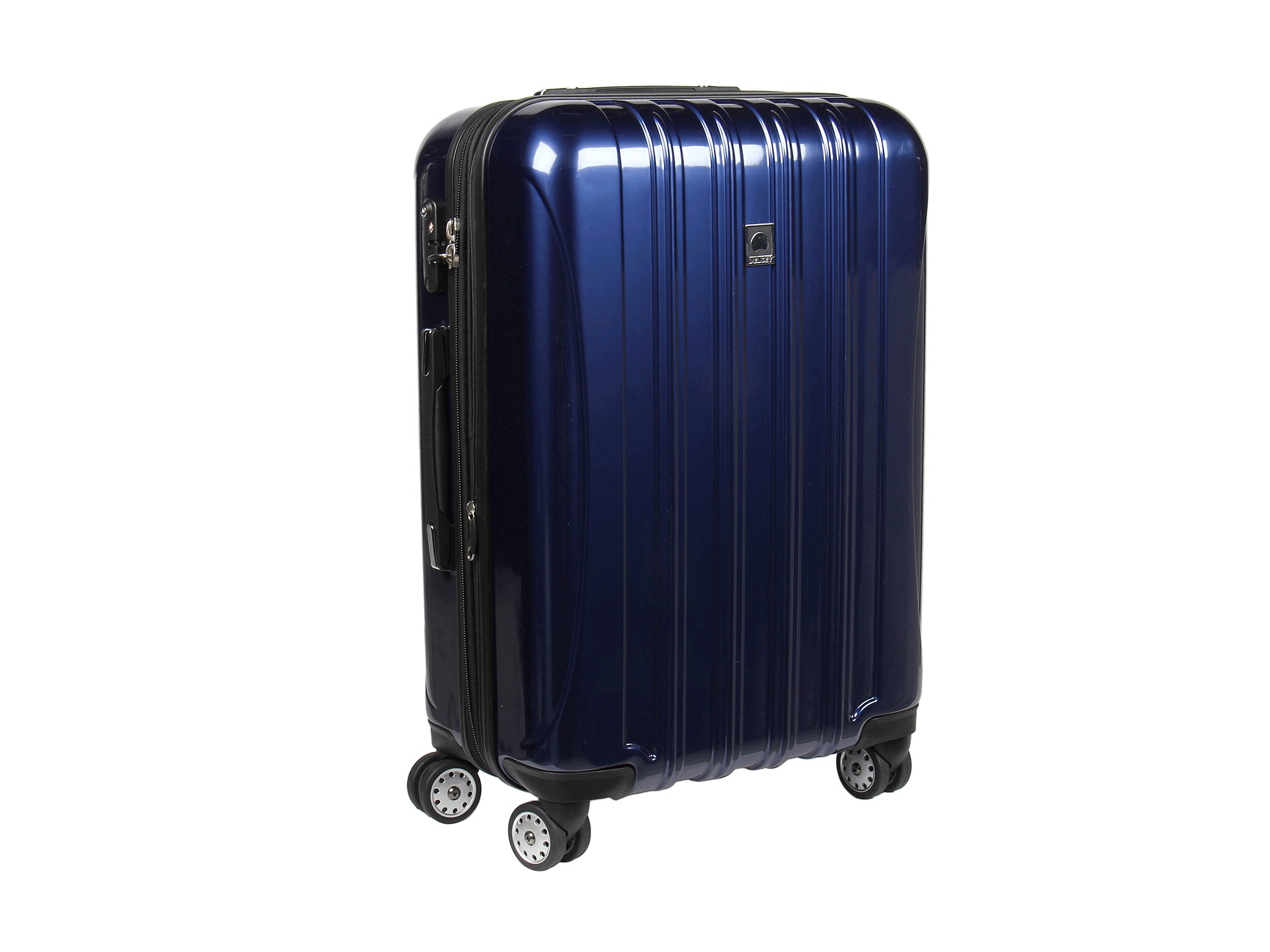 delsey helium aero 25 expandable spinner trolley cobalt blue free shipping both ways. Black Bedroom Furniture Sets. Home Design Ideas